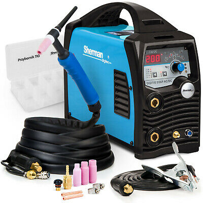 200 AMP TIG Welder Welding Machine Inverter Sherman DIGITIG 200GD AC DC Aluminum