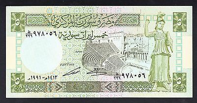 Syria 5  Pounds 1988  UNC  P. 100,   Banknotes, Uncirculated