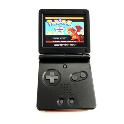 Black Game Boy Advance GBA SP Console AGS 101 Brighter Backlit LCD Mod Console