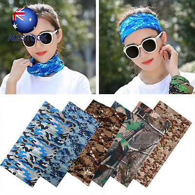 Outdoor Sports Cycling Camo Tube Scarf Bandanas Face Mask Head Neck Snood Wear