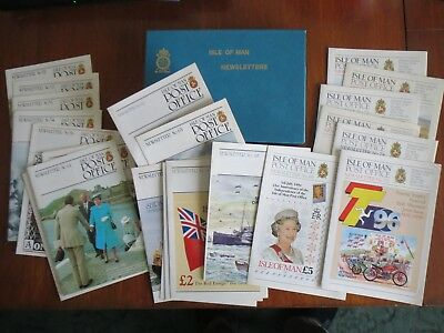 SET OF 25 ISLE OF MAN POST OFFICE NEWSLETTERS (No 51 to 75)