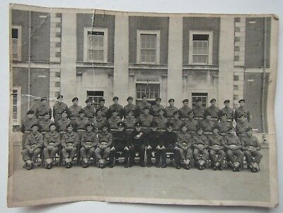 Old Group Army Photo - Hand signed on the back - Royal Green Jackets, Winchester