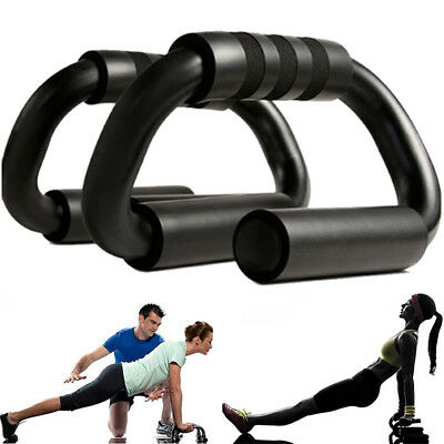 1Pair S-Type Push Up Stand Exercise Tool Gym Workout Fitness Strength Training