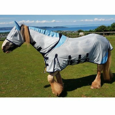 GS Equestrian FLY RUG COMBO FULL NECK WITH FREE FLY MASK 5'6 to 6'9