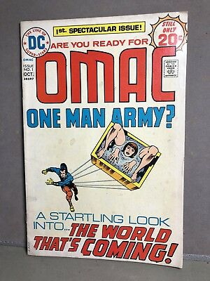 Vintage VG 1974 OMAC 1 DC comic THE NEW GODS Issue 1 Kirby Bronze Age Fair