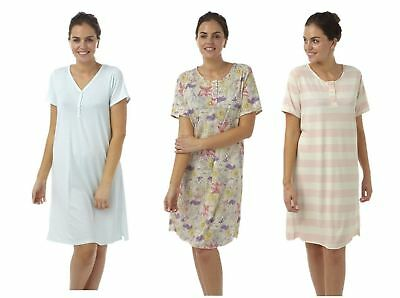 Womens ladies nightie nightdress lightweight plus size