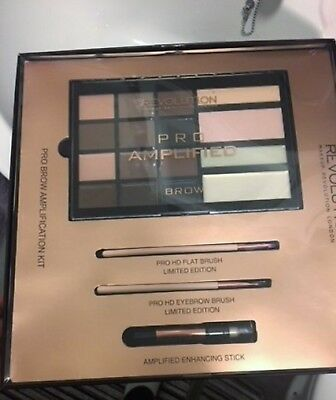 Makeup Revolution Pro Amplified Brow Amplification Kit Gift Set New