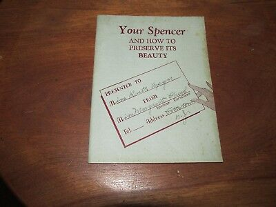 Vintage Spencer Corsets Booklet, How to Preserve its Beauty, 1939