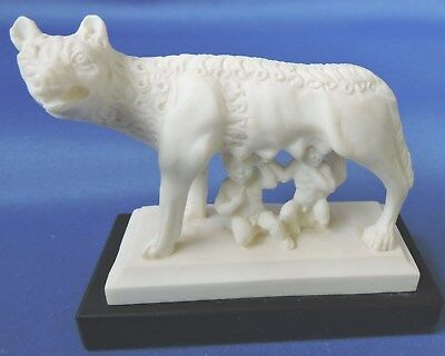 Vintage Mythical 'she-Wolf' Of Rome Figurine With Remus & Romulus - Stunning!