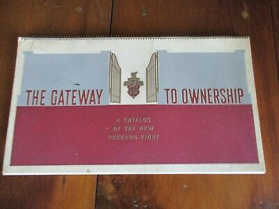1934 Packard Catalog Of The New Packard 8 - Gateway To Ownership - Spiral Bound