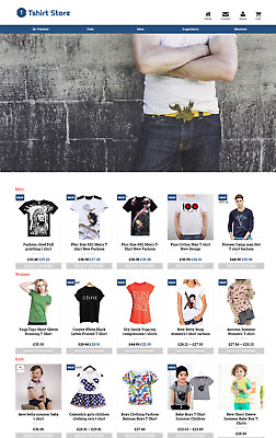 Established Tshirt Store Profitable Website Business For Sale - Dropshiping