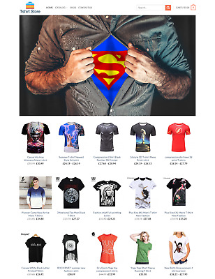 Fully Stocked Tshirt Store Profitable Website Business For Sale - Dropshiping