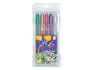 Sakura Gelly Roll Glaze 3D-Roller Pen set of 5 - Set  A