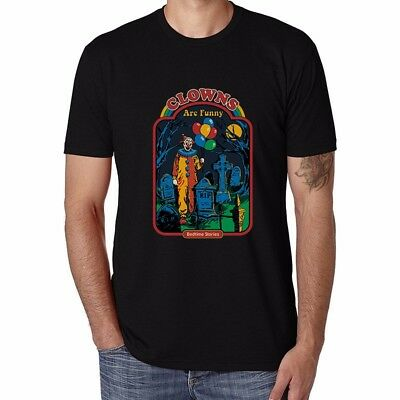 Clowns Are Pendant Men's T-shirts Funny Cotton Short Sleeve Casual Tops Tee xxl