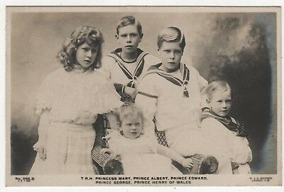 Real Photo Postcard- The Children Of King George V - Posted  1907