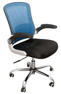 Chair Office Swivel Ergo Adjustable Regulation Arms Flip Up Blue / Black