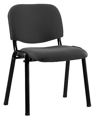Chair Confident Basic 4 Legs Metal 530 x 560 x 80 mm Seat Upholstered Black