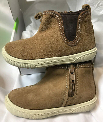 STRIDE RITE Lil Tabor BROWN SUEDE Infant Baby Boy Booties Shoes 3M 6-9 Month NEW