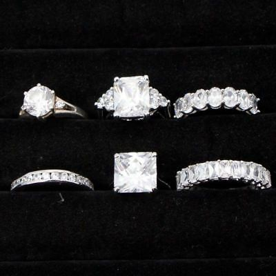 Sterling Silver - Lot of 6 Solid & Gemstone Rings NOT SCRAP - 32g