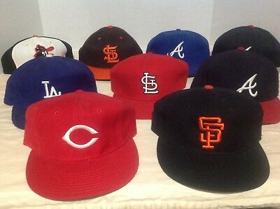 Vintage Mid 80s New Era Offical  MLB Caps (lot of 9) sizes 7 to 7.1/4