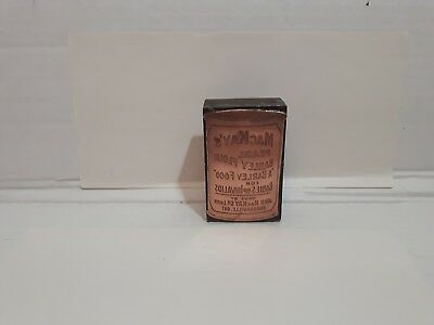 Vintage Antique Old Small Advertising Printing Plate Mackay's Block News Paper