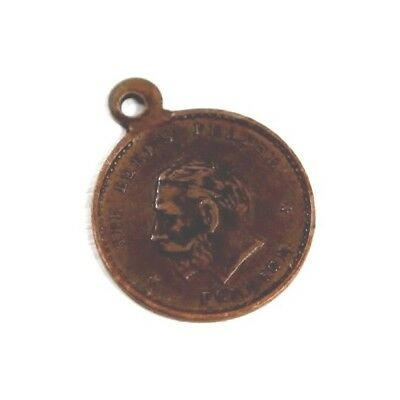 Vintage The Lord`s Prayer Foreign Necklace Medallion Pendant King George V