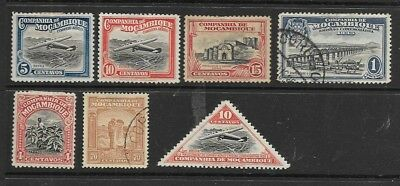 Collection Of Mozambique Company Stamps