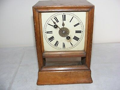Vintage Clock By W & H Winterhalder Hofmeir Brass Movement Chime Restore Parts