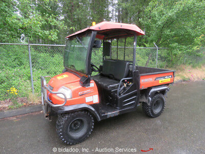 2012 Kubota RTV900 4WD Industrial Utility Vehicle Cart UTV Diesel Power Dump 4x4