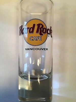 Hard Rock Cafe Shot Glass Vancouver Old Orange Logo