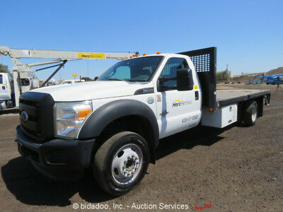 Ford F550  2011 Ford F550 Stake Bed Flat Bed Work Truck Cold AC AM/FM Radio Trailer Hitch