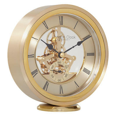 London Clock Company Round Carriage Clock, Gold RRP £85 Buy Now For Half Price