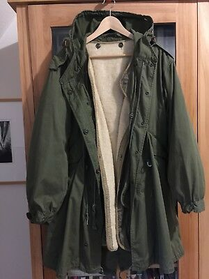 Original early M-1951 M51 Fishtail Parka Small + Liner Heritage US Army Conmar