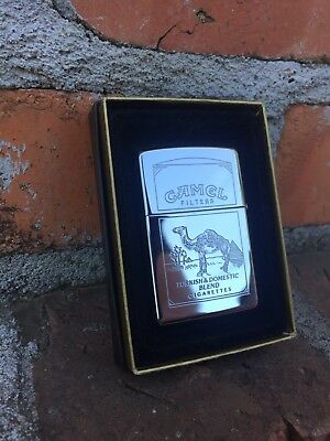 Two-sided Camel Chrome Classic Zippo Lighter