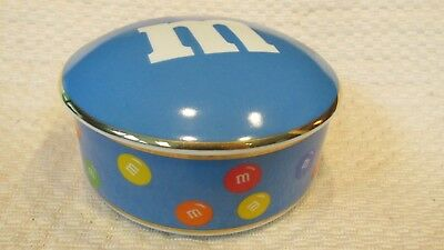 """M&M's(R) Employee Only Crispy """"TIFFANY(R)"""" porcelain candy box -  VERY RARE"""