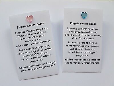 Forget Me Not Seed Pack Nursery Pre School Teacher TA Thank You Gift key worker