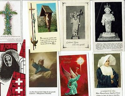 Lot Christian items, holy cards, antique & old Prayer & Christian booklets
