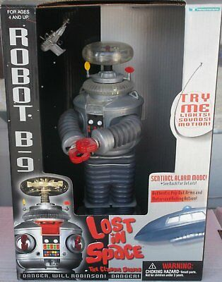 "Classic Lost In Space B9 ROBOT Electronic light, sound, & Motion 10"" Figure"