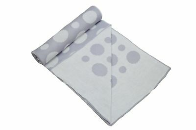 Cuddles Collection Spot Blanket (Silver) Silver