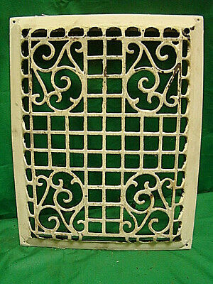 Antique Cast Iron Heating Grate Cover Ornate Victorian Design 13.25 X 10.5