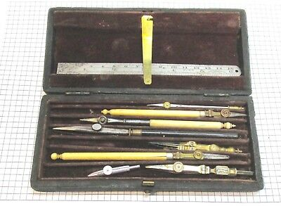Collection of vintage drawing instruments, no reserve