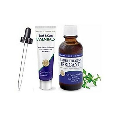 Dental Herb Company Under the Gums Irrigant & NEW Essentials Paste PLUS Dropper