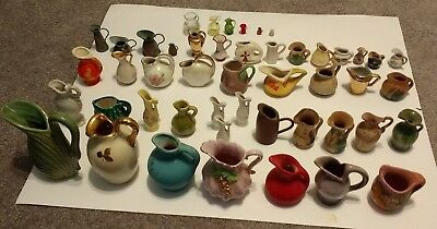 VINTAGE MINIATURE PITCHER VASE LOT OF 48 All older than 60 years