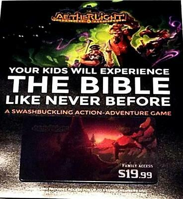 The Aetherlight Family Access Bible Stories Online Video Game $20 Gift Card