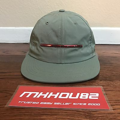 dbe236631f6 NEW SUPREME CHROME Stripe 6-Panel Cap Hat Camp Olive 5 Spring Summer 2017  SS17 -  99.99