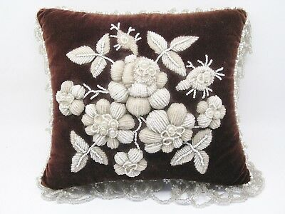 Iroquois Floral Beaded Pillow