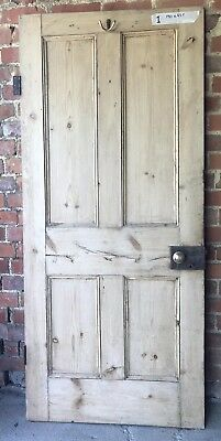 Reclaimed Victorian 4 Panel Pine Door 190x83.5cm