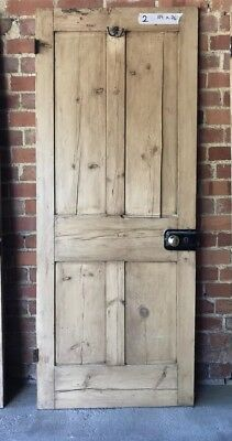 Reclaimed Victorian 4 Panel Pine Door 189x76cm