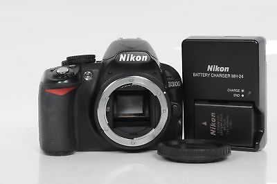 Nikon D3100 14.2MP Digital SLR Camera Body Black                            #402