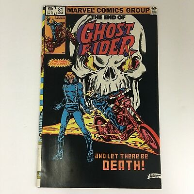 Ghost Rider #81 LAST ISSUE/LOW PRINT Marvel Comics Volume 1 1983 VF!!!